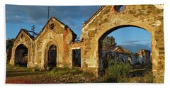 Ruins Of The Abandoned Mine Of Sao Domingos. Portugal Beach Sheet