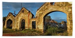 Ruins Of The Abandoned Mine Of Sao Domingos. Portugal Beach Towel