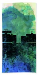 Rush Watercolor Beach Towel