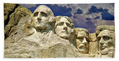 Beach Towel featuring the photograph Rushmore by Edmund Nagele