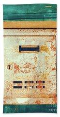 Rusted Mailbox Beach Towel