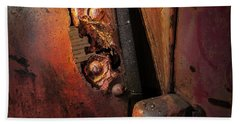 Beach Towel featuring the photograph Rusty Hinge by Juan Contreras