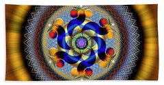 Sacred Geometry 740 Number 1 Beach Towel
