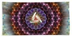 Sacred Geometry 742 Beach Towel