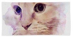 Sad Cat Beach Towel