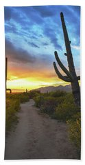 Saguaro Trail Beach Towel