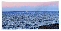 Beach Towel featuring the digital art Sail Boat by Lucia Sirna