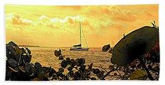 Sail The Manatee River Beach Towel