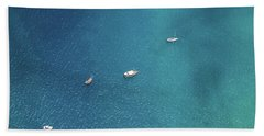 Sailing On The Blue Beach Towel