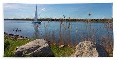 Sailing On The Cape Cod Canal Beach Sheet