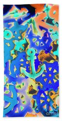 Sailing Pop Art Beach Towel