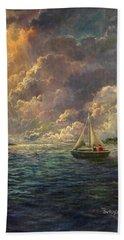 Sailing The Divine Light Beach Sheet