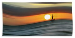 Sailing To The Sunset Beach Towel