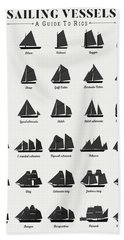 Sailing Vessel Types And Rigs Beach Towel
