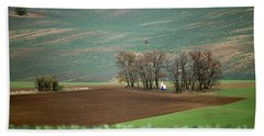Beach Towel featuring the photograph Saint Barbara Chapel, Moravia 17 by Dubi Roman
