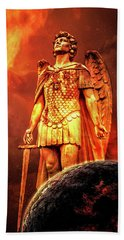 Beach Towel featuring the photograph Saint Michael by Michael Arend