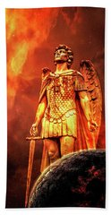 Beach Towel featuring the photograph Saint Michael The Archangel by Michael Arend