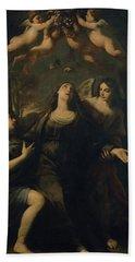 'saint Rosalia', 17th Century, Italian School, Canvas, 228 Cm X 179 Cm, P00470. Beach Towel