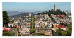 San Francisco - Telegraph Hill Beach Towel