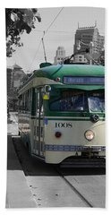 San Francisco - The E Line Car 1008 Beach Towel