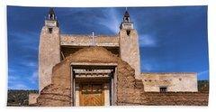 Beach Towel featuring the photograph San Jose De Gracia Catholic Church by Robert FERD Frank