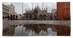 Beach Towel featuring the photograph San Marco Cathedral Venice Italy by Nathan Bush