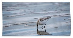 Sanderling Foraging Beach Towel