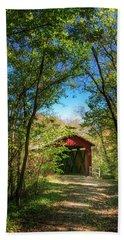 Beach Towel featuring the photograph Sandy Creek Covered Bridge by Robert FERD Frank