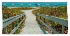 Sanibel Beach Umbrellas Beach Towel