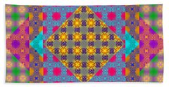 Sankofa Kaleidoscope Prime 2 Beach Sheet