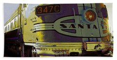 Santa Fe Railroad 347c - Digital Artwork Beach Towel
