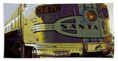 Santa Fe Railroad 347c - Digital Artwork Beach Sheet