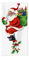 Santa Joyful Ride Beach Towel