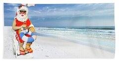 Santa Lifeguard Beach Towel