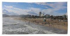 Santa Monica Beach , Santa Monica, California Beach Towel