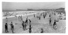 Santa Monica Beach Circa 1920 Beach Sheet