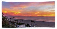 Santa Monica Pier Sunset - 11.1.18  Beach Towel