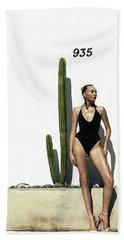 Sasha Dubrovskaya Standing Beach Sheet