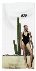 Sasha Dubrovskaya Standing Beach Towel
