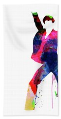Saturday Night Fever Watercolor Beach Towel