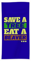 Save A Tree Beach Sheet