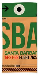 Sba Santa Barbara Luggage Tag I Beach Towel