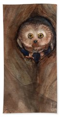 Scardy Owl Beach Towel