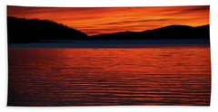 Beach Towel featuring the photograph Scarlet by Doug Gibbons
