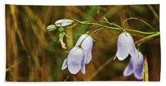 Scotland. Loch Rannoch. Harebells In The Grass. Beach Towel