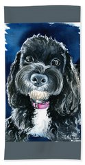Scout - Cavoodle Dog Painting Beach Towel