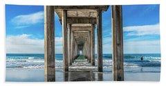 Scripps Pier La Jolla California Beach Sheet