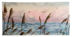 Sea Oats And Seagulls  Beach Towel