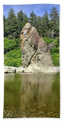 Sea Stack At Ruby Beach  Beach Towel