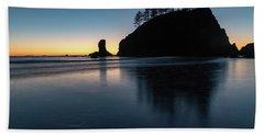 Sea Stack Silhouette Beach Towel